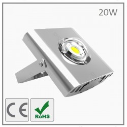 PROJECTEUR LED COB-20W-GRIS-BLANC NEUTRE