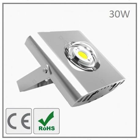 PROJECTEUR LED COB -30W-ARGENT-BLANC NEUTRE