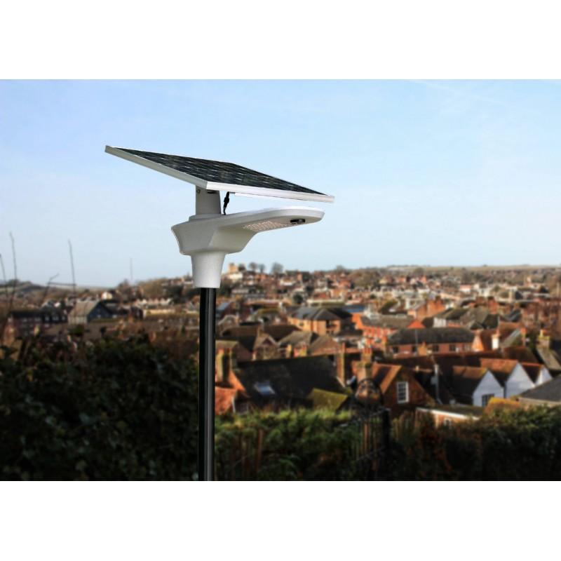 LAMPADAIRE LED SOLAIRE AUTONOME A BATTERIE INTEGRE 60W