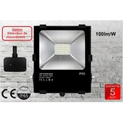 PROJECTEUR LED  PRO NOIR-50W-100L/WATT-BLANC DU JOUR
