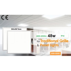 DALLE PLAFOND LED 595 x 595 MM - 48W-BLANC DU JOUR
