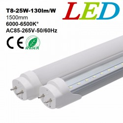 TUBE NEON LED T8 - 25W -1500mm - 125lm/W-BLANC DU JOUR