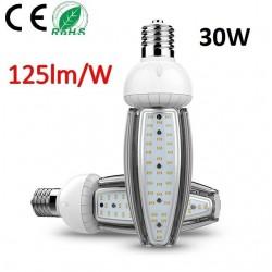 AMPOULE LED CORN - 30W-CULOT-E40-125LM/W-BLANC CHAUD