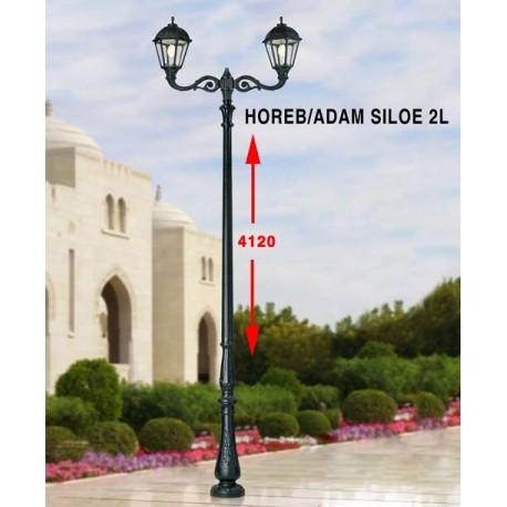 LAMPADAIRE CLASSIQUE RESINE HOREB 3500MM/SILOE -ADAM 2L-FUMAGALLI