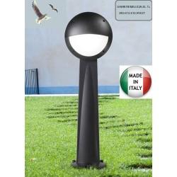 BORNE LED-GABRI REMILUCIA 1L-RESINE-CULOT E27-GRIS OPALE-1000MM